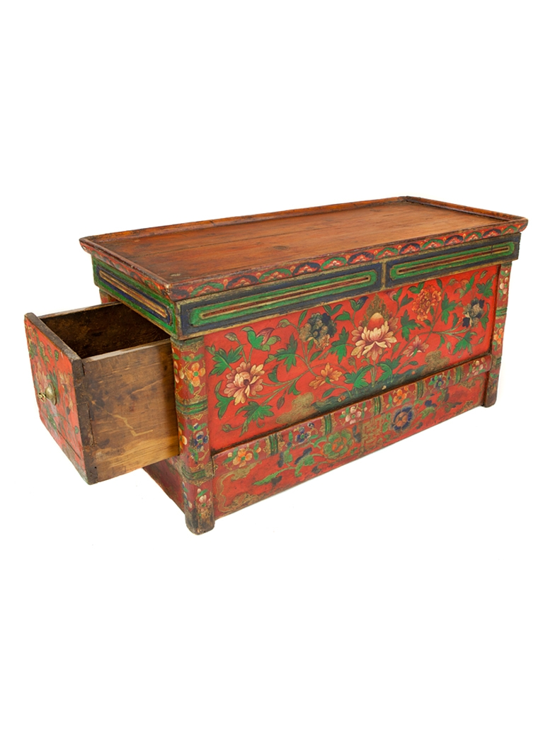 Tibetan Prayer Desk U2013 Red Floral