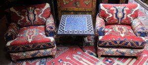 Kazak Clubchairs pair