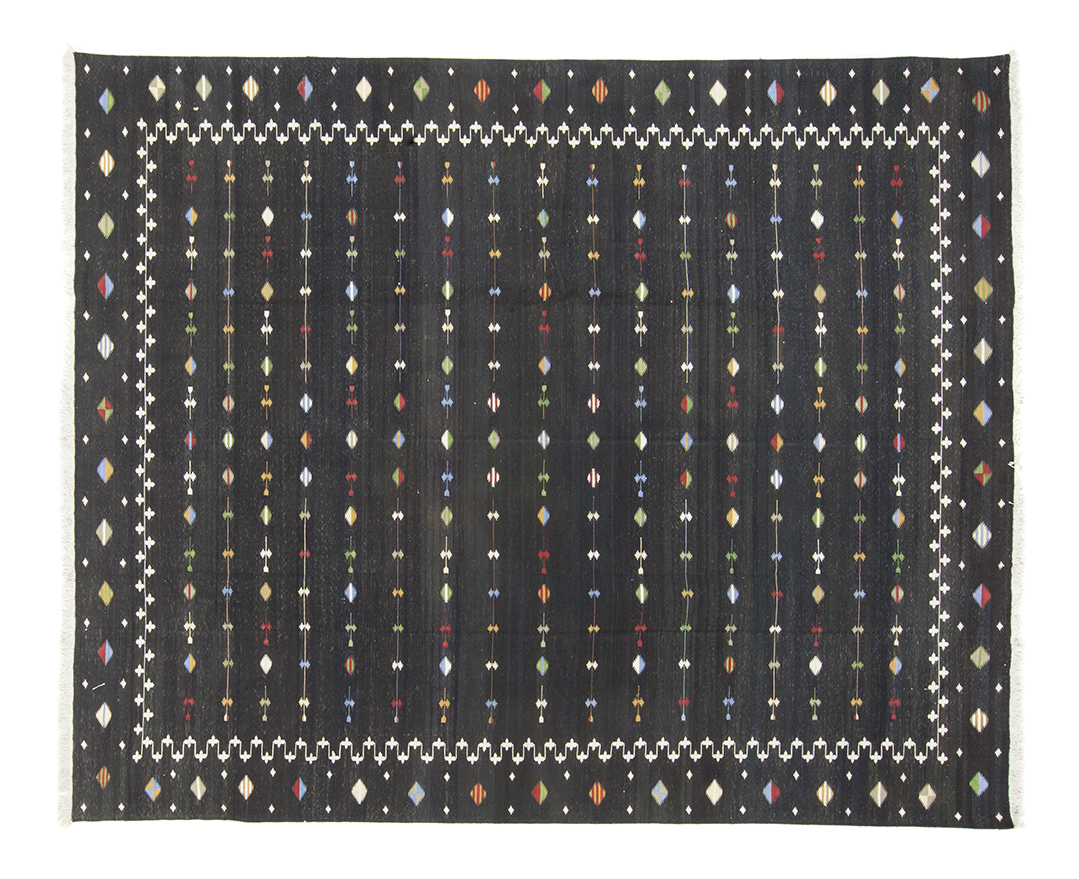 Black Shooting Star Dhurrie 8 4 X 9 9 Seret And Sons