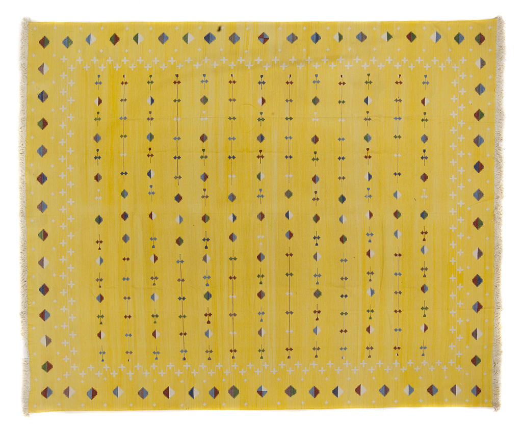 Yellow Shooting Star Dhurrie 8 1 X 9 9 Seret And Sons